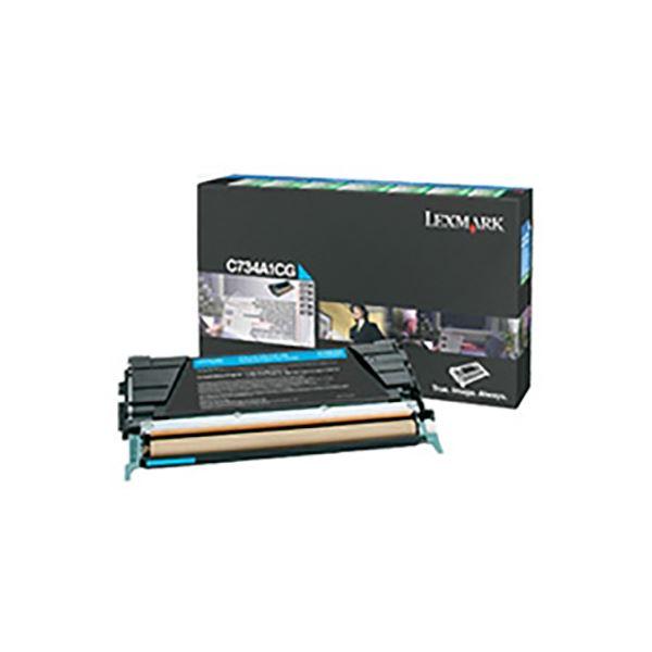 (業務用3セット) 【純正品】 LEXMARK インクカートリッジ/トナーカートリッジ 【C734A1CG シアン】 6K RPトナー