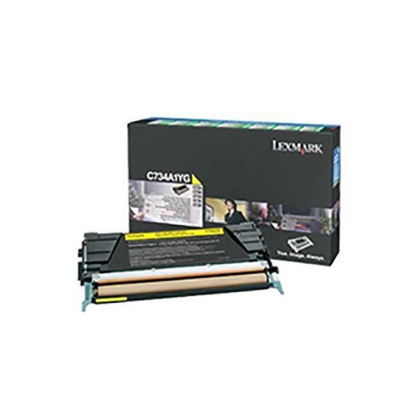 (業務用3セット) 【純正品】 LEXMARK インクカートリッジ/トナーカートリッジ 【C734A1YG イエロー】 6K RPトナー