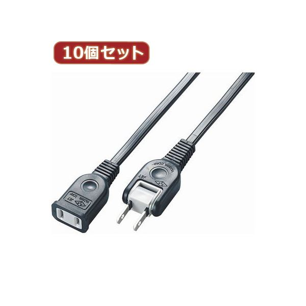YAZAWA 10個セット耐トラ付延長コード Y02102BKX10
