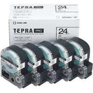 (業務用5セット) キングジム テプラ PROテープ/ラベルライター用テープ 【幅:24mm】 5個入り SS24K-5P ホワイト(白) 【×5セット】