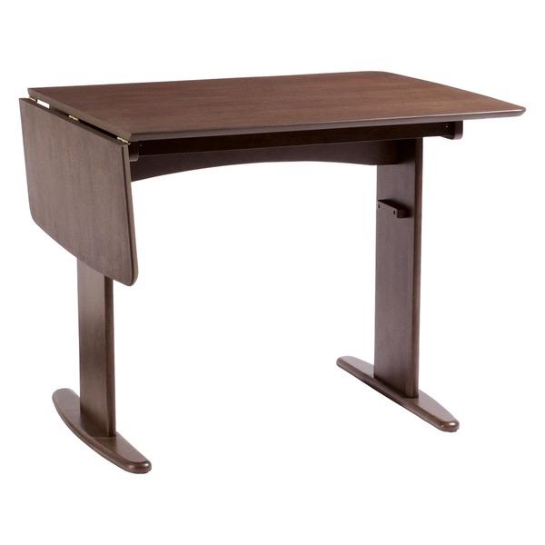 伸長式ダイニングテーブル/バタフライテーブル 【幅90cm/120cm】 木製 スライドタイプ 『バター』 ブラウン