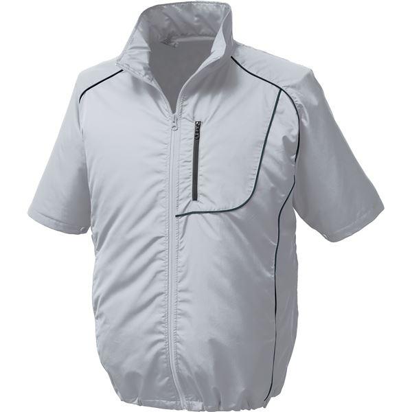 ポリエステル製半袖空調服 BP500S リチウムバッテリーセット 【カラー:シルバー×ブラック サイズ:M】