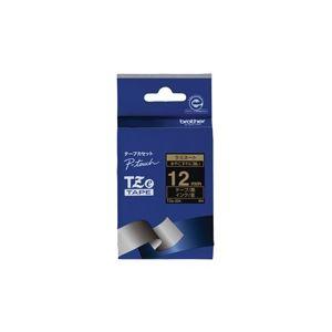 (業務用30セット) ブラザー工業 文字テープ TZe-334黒に金文字 12mm ×30セット
