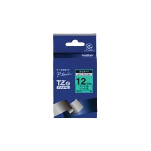 (業務用30セット) ブラザー工業 文字テープ TZe-731緑に黒文字 12mm ×30セット