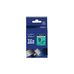 (業務用30セット) ブラザー工業 文字テープ TZe-721緑に黒文字 9mm ×30セット