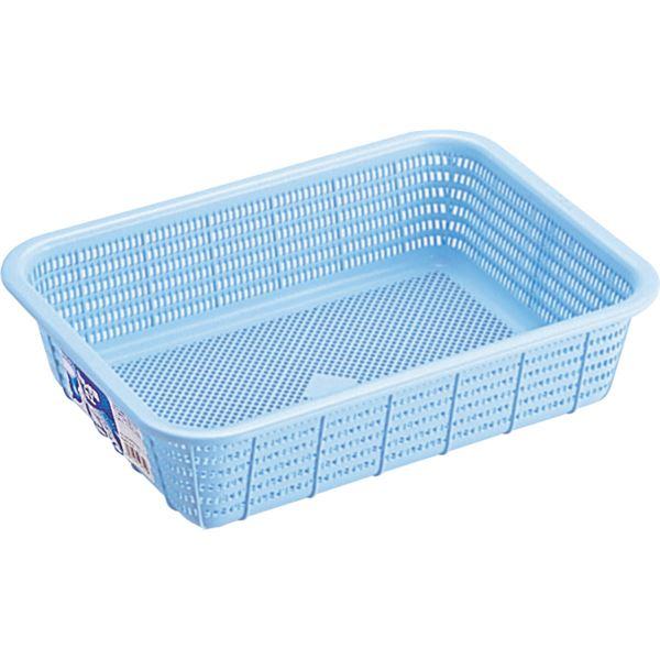 【20セット】 キッチンバスケット/キッチン用品 【Sサイズ】 ブルー 材質:PP メッシュ形状 『HOME&HOME』【代引不可】