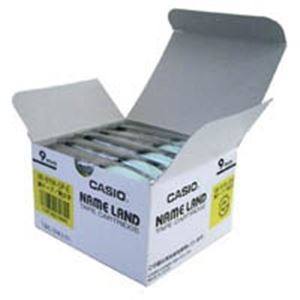 (業務用5セット) カシオ計算機(CASIO) テープ XXR-9YW-5P-E 黄に黒文字 9mm 5個 【×5セット】