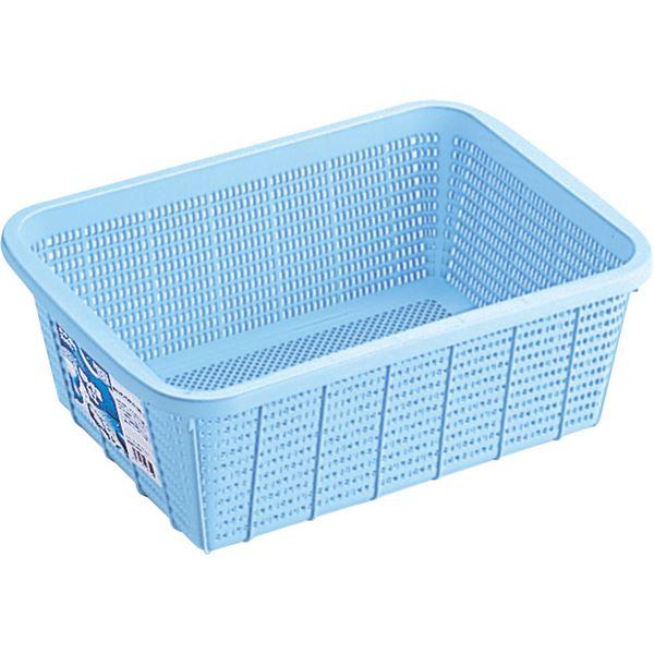 【20セット】 キッチンバスケット/キッチン用品 【DSサイズ】 ブルー 材質:PP メッシュ形状 『HOME&HOME』【代引不可】