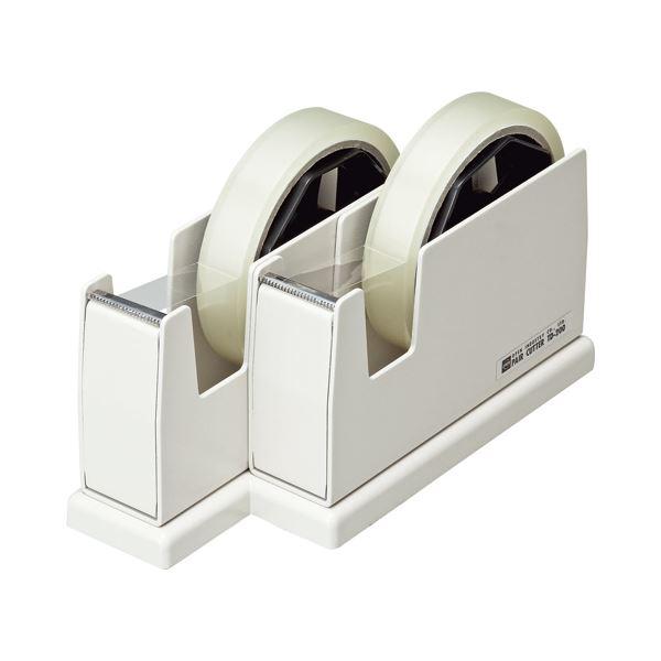 (まとめ) オープン工業 ペアカッター 大巻・小巻両用 W82×D200×H109mm 白 TD-200-WH 1台 【×4セット】