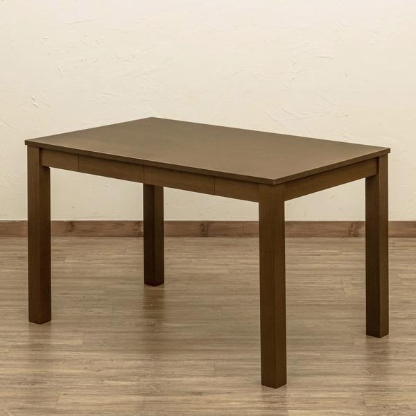 フリーテーブル/センターテーブル 【110cm×70cm ブラウン】 引き出し2杯付 アジャスター 木製脚付き 〔リビング ダイニング〕【代引不可】