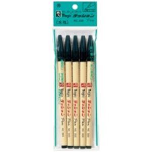 (業務用100セット) 寺西化学工業 ラッションペン M300-T1-5P 黒 5Pパック ×100セット