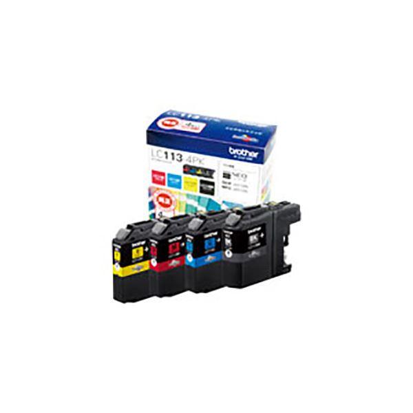 (業務用3セット) 【純正品】 BROTHER ブラザー インクカートリッジ/トナーカートリッジ 【LC113-4PK 4色パック】