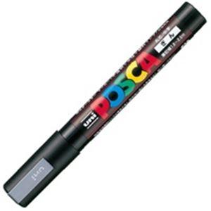 (業務用200セット) 三菱鉛筆 ポスカ PC-5M.26 中字 銀 ×200セット