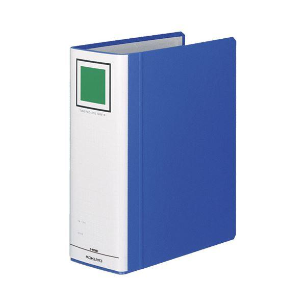 (まとめ) コクヨ チューブファイル(エコツインR) B5タテ 800枚収容 背幅95mm 青 フ-RT681B 1冊 【×10セット】