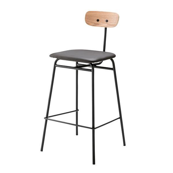 スタイリッシュな椅子 インテリア家具 ディスプレイ用品 什器 デザインハイチェア カウンターチェア PLC-511BK ブラック 合皮 スチールフレーム 定番の人気シリーズPOINT ポイント 入荷 張地:合成皮革 海外