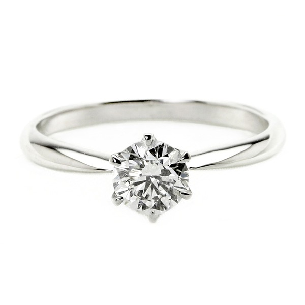 ダイヤモンド ブライダル リング プラチナ Pt900 0.5ct ダイヤ指輪 Dカラー SI2 Excellent EXハート&キューピット エクセレント 鑑定書付き 13号