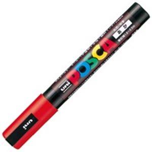 サインペン マーキングペン 感謝価格 POP用マーカー 事務用品 豪華な まとめ 業務用200セット PC-5M.15 中字 ポスカ 赤 ×200セット 三菱鉛筆