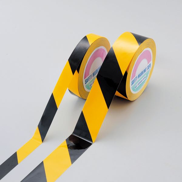 ガードテープ(再はく離タイプ) GTH-501TR ■カラー:黄/黒 50mm幅【代引不可】