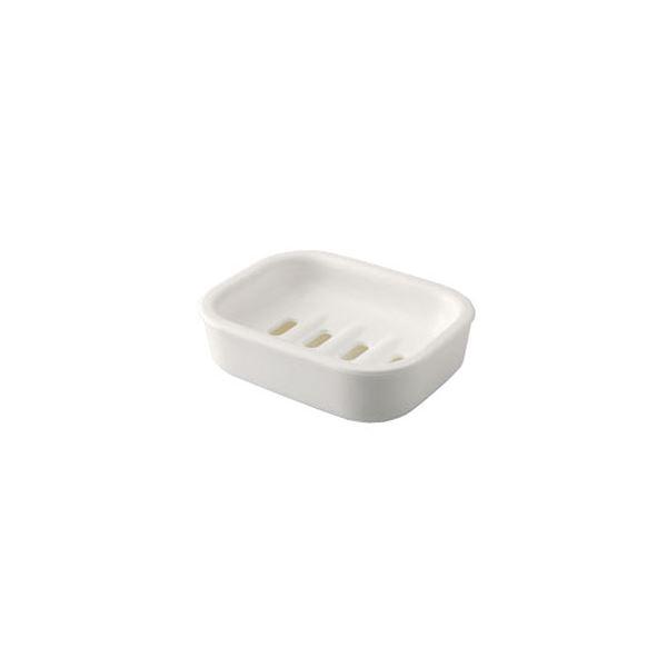 【60セット】 シンプル 石鹸台/ソープディッシュ 【ホワイト】 材質:PP 『HOME&HOME』【代引不可】
