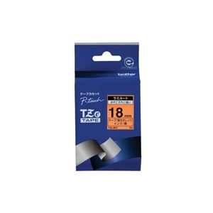 (業務用30セット) ブラザー工業 文字テープ TZe-B41蛍光橙に黒文字 18mm ×30セット