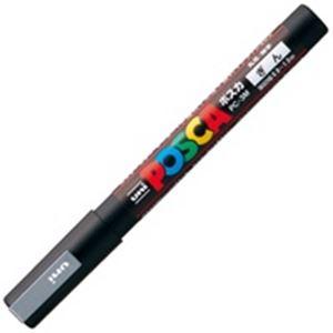 (業務用200セット) 三菱鉛筆 ポスカ PC-3M.26 細字 銀 ×200セット
