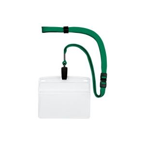 (業務用20セット) オープン工業 吊下げ名札クリップ ソフト横特大 NL-21-GN ×20セット