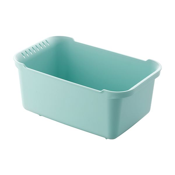 【8セット】 ウォッシュタブ/洗い桶 【ブルーグリーン】 36×22×16.5cm 本体:PP 『リベラリスタ』【代引不可】