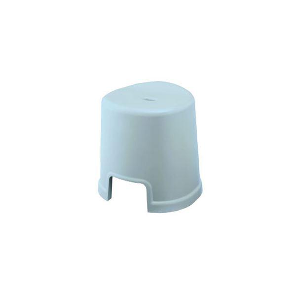 【12セット】 シンプル バスチェア/風呂椅子 【350 ブルー】 すべり止め付き 材質:PP 『HOME&HOME』【代引不可】