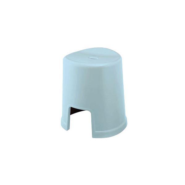【12セット】 シンプル バスチェア/風呂椅子 【400 ブルー】 すべり止め付き 材質:PP 『HOME&HOME』【代引不可】