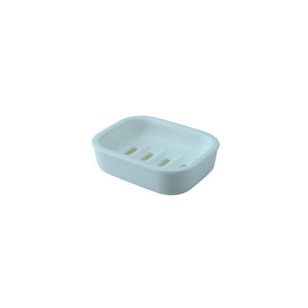 【60セット】 シンプル 石鹸台/ソープディッシュ 【ブルー】 材質:PP 『HOME&HOME』【代引不可】