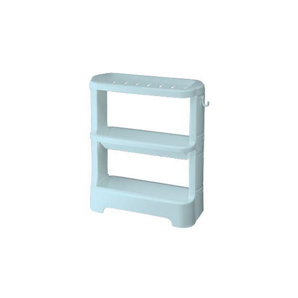 【12セット】シンプル ボトルラック/お風呂収納 【ブルー】 33×14.1×38cm 材質:PP 『HOME&HOME』【代引不可】