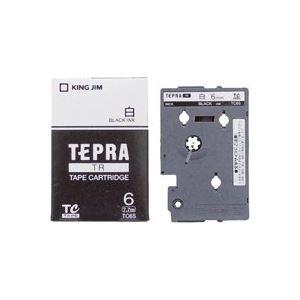 (業務用30セット) キングジム テプラTRテープ TC6S 白に黒文字 6mm ×30セット