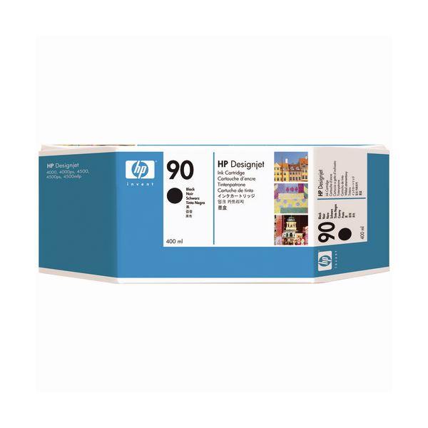 (まとめ) HP90 インクカートリッジ 黒 400ml 顔料系 C5058A 1個 【×3セット】