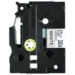 (業務用5セット) ブラザー工業(BROTHER) 文字テープ TZe-251V白に黒文字 24mm 5個 【×5セット】