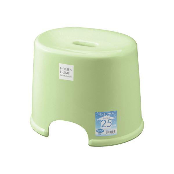 【20セット】 シンプル バスチェア/風呂椅子 【250 パステルグリーン】 すべり止め付き 材質:PP 『HOME&HOME』【代引不可】