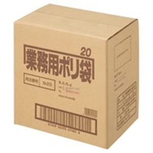60組 ポリゴミ袋 透明 【×5セット】 20L (業務用5セット) N-23 日本サニパック 10枚