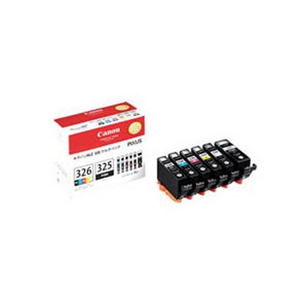 (業務用3セット) 【純正品】 Canon キャノン インクカートリッジ/トナーカートリッジ 【BCI-326+325/6MP】 6色パック