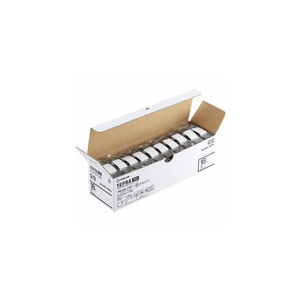 キングジム SS18K-10PN テプラPROテープ エコパック 白 黒文字 18mm幅 8m 10個入
