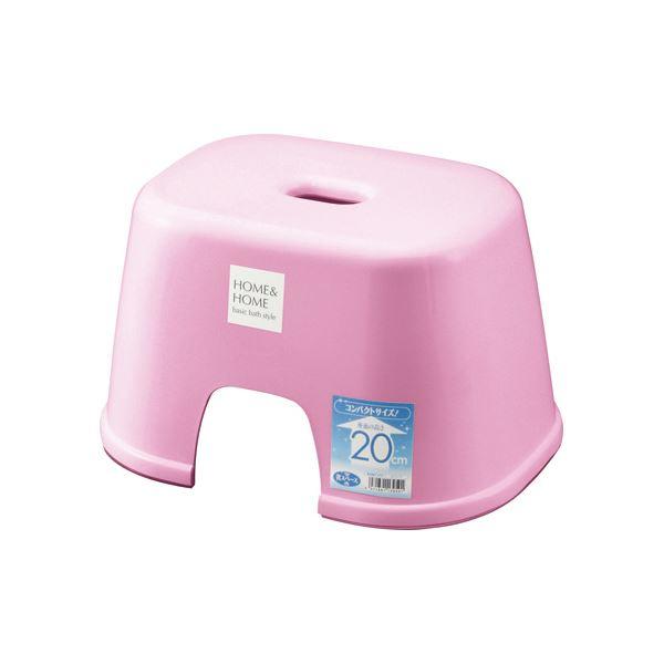 【20セット】 シンプル バスチェア/風呂椅子 【200 パステルピンク】 すべり止め付き 材質:PP 『HOME&HOME』【代引不可】