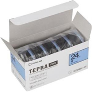 (業務用5セット) キングジム テプラ PROテープ/ラベルライター用テープ 【幅:24mm】 5個入り カラーラベル(青) SC24B-5P 【×5セット】