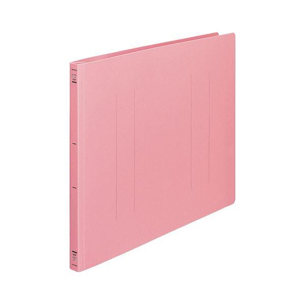 (まとめ) コクヨ フラットファイル(PP) A3ヨコ 150枚収容 背幅20mm ピンク フ-H48P 1セット(10冊) 【×2セット】