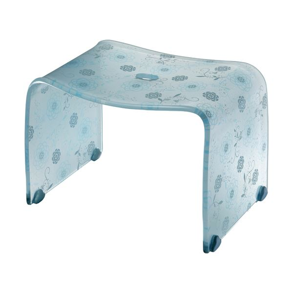 【4セット】 ロマンチック バスチェア/風呂椅子 【Mサイズ ペールブルー】 脚ゴム付き 『フィルロ シュシュ』【代引不可】