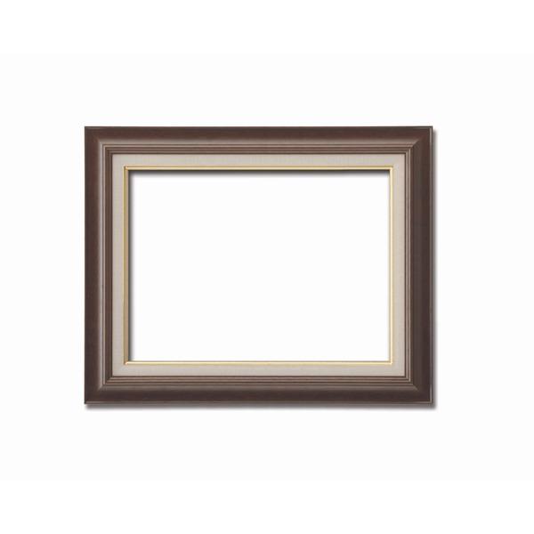 【油額】油絵額・キャンバス額・木製油絵額・茶色油絵額 ■F10号(530×455mm)「ブラウン」