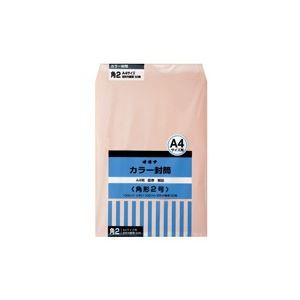 (業務用30セット) オキナ カラー封筒 HPK2PK 角2 ピンク 50枚 ×30セット