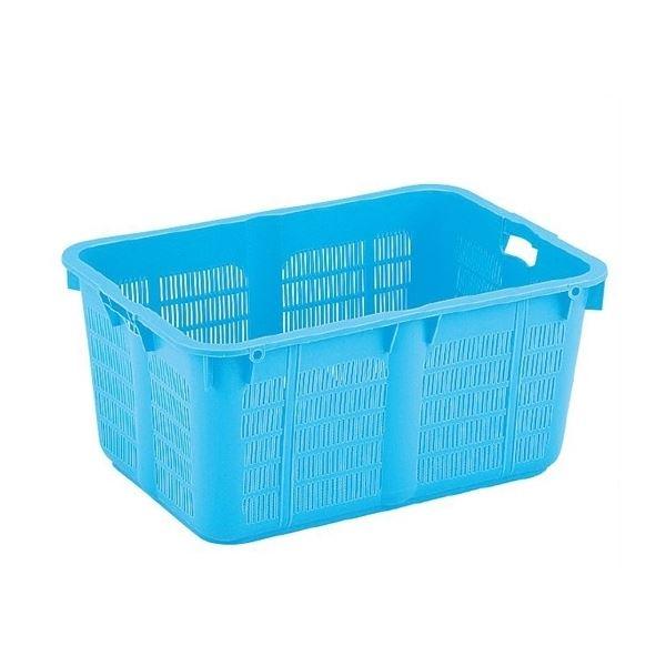 【5個セット】プラスケット/網目ボックス 【No.1200 金具なし】 ブルー スタッキング金具使用時:段積み可【代引不可】
