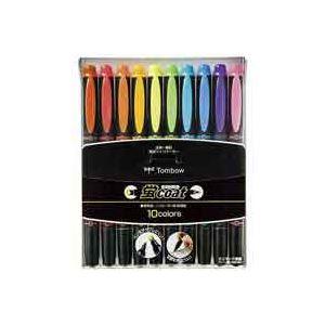 サインペン・マーキングペン 蛍光ペン 事務用品 まとめ (業務用50セット) トンボ鉛筆 蛍コート WA-TC10C 10色セット ×50セット
