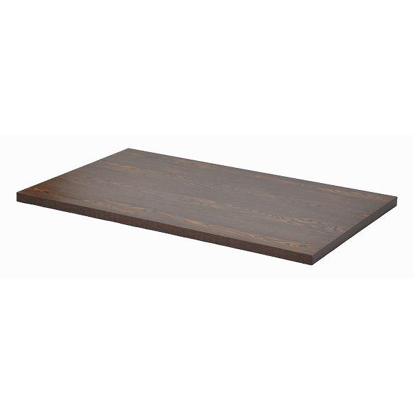 テーブルキッツ 天板M (W1200×750×35mm) メラミン製 ダークブラウン【代引不可】