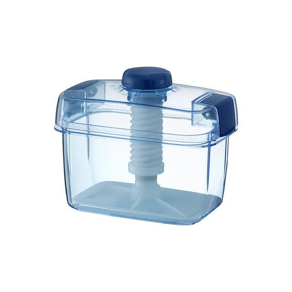 【18セット】 漬物容器/漬物用品 【S-16 クリアブルー】 ハイペット 〔キッチン用品 家庭用品 手づくり〕【代引不可】