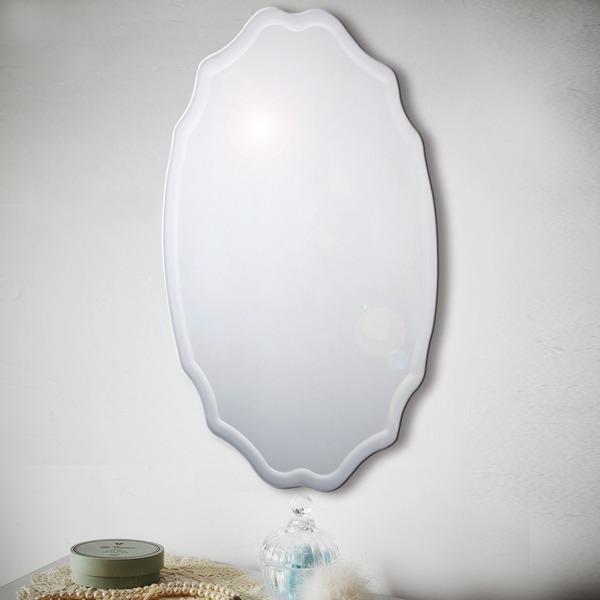 ノンフレーム ウォールミラー/壁掛け鏡 【幅40cm×奥行3cm×高さ60cm】 飛散防止加工【代引不可】