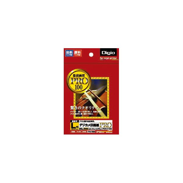 (業務用セット) インクジェット用紙 デジカメ印画紙PRO 強光沢・超厚手 L判 100枚 PRSK-LH-100G【×5セット】